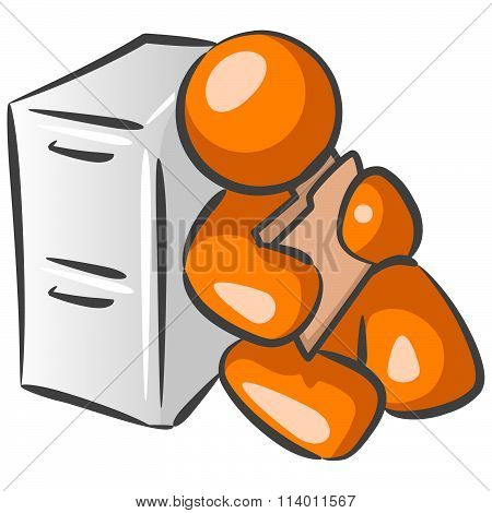 Orange Person File Clerk