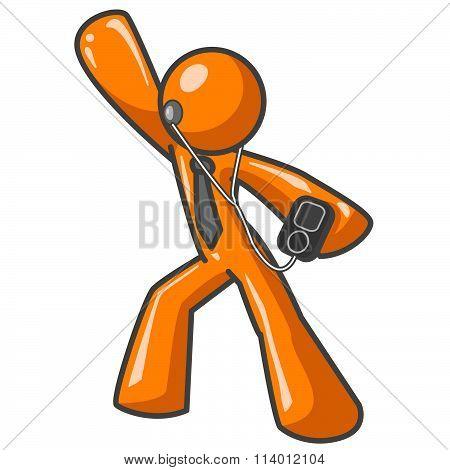 Orange Man Mp3 Player