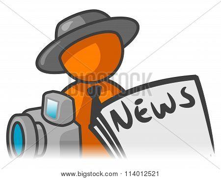 Orange Man News Reporter