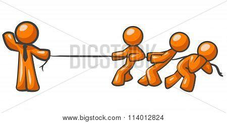 Orange Man Tug Of War
