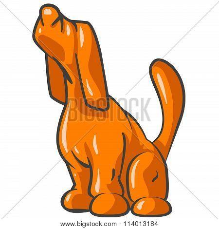 Orange Tick Hound Sniffing The Air