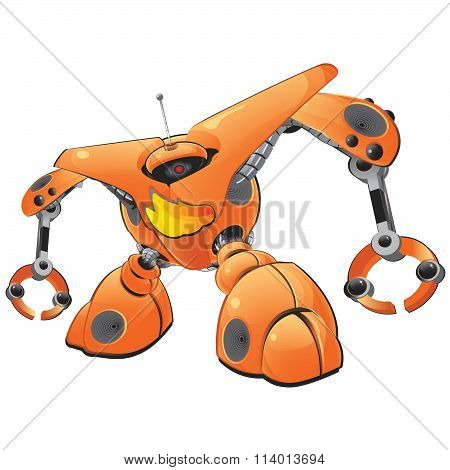 Orange Firewall Robot Concept