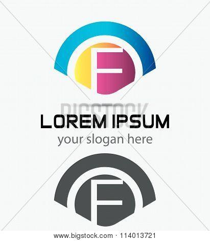Letter F Logo Design.Creative Symbol of letter F