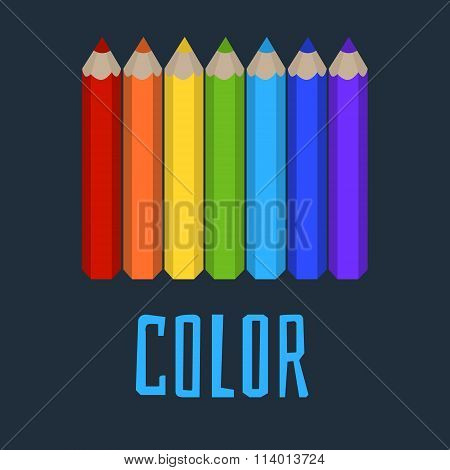 Colored Pencils, Word Color, Rainbow Colors, Rainbow From Pencils