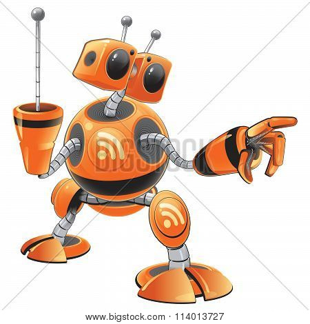 Orange Rss Robot Concept