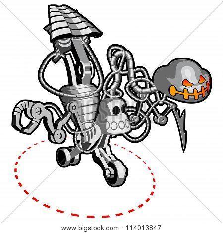 Metallic Skelleton Robot