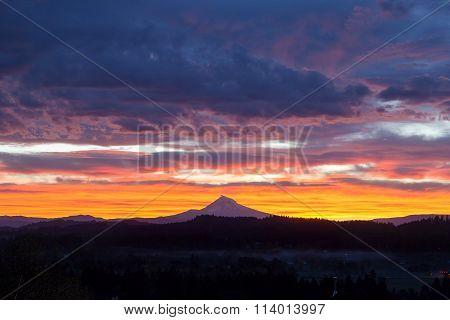 Happy Valley Oregon Mt Hood View Sunrise