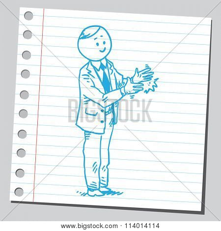 Businessman applauding