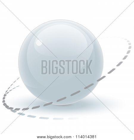 White Shiny Pearl Sphere