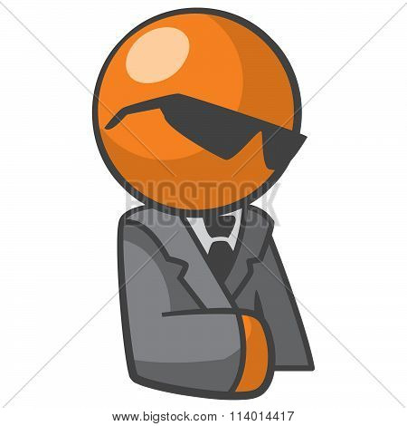 Orange Person Corporate Business Man Avatar