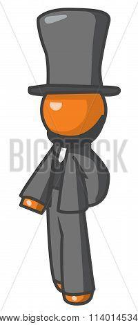 Orange Person Abraham Lincoln