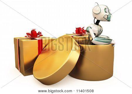 Robot And Gift