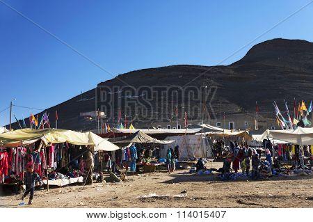 IMILCHILL, MOROCCO, 25.10.2015 - Rural souk in Imilchill, Morocco, Africa