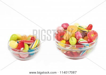 Candies Isolated In White Background
