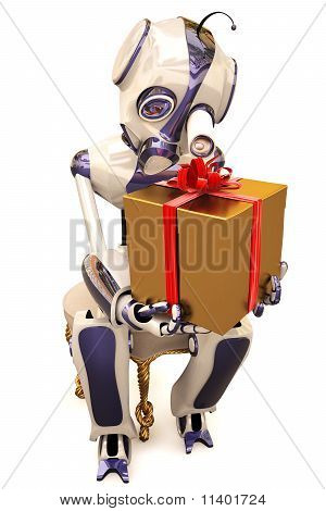 Robot y regalo