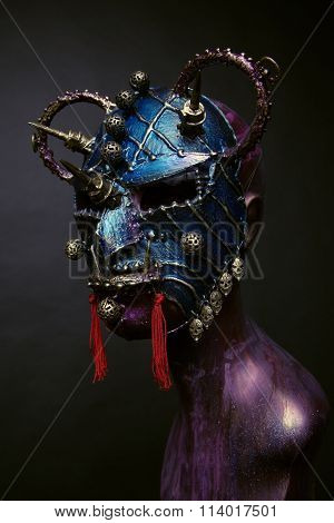Metal Samurai Mask