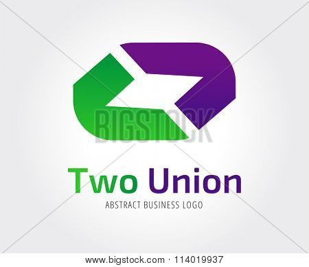 Arrow abstract logo template. Up, cursor icon, creative idea, arrowheads marker and dynamic or moving. Company logo. Stock icon