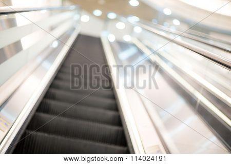 Blurred image of escalator