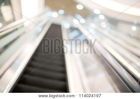 Blurred view of Escalator