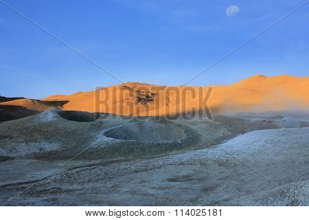 Craters Orange Mountains Early Morning
