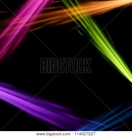 Abstract black background with colourful pattern. Vector illustration.