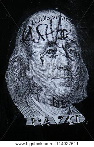 Stencil art in Lower East Side in Manhattan.