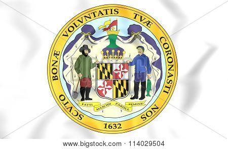 State Seal Of Maryland, Usa.