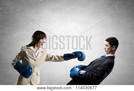 Fighting business partners