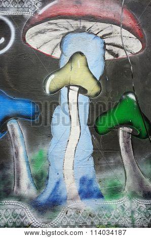 Magic Mushroom Graffiti, Bali