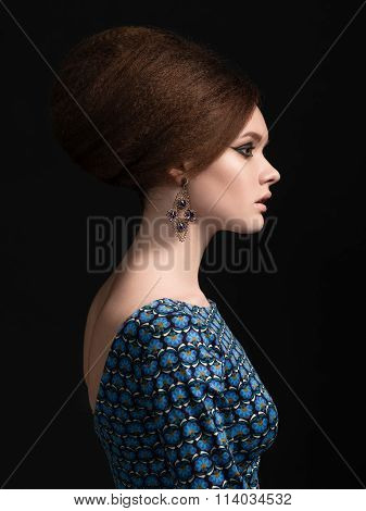 Portrait Of Beautiful Woman With