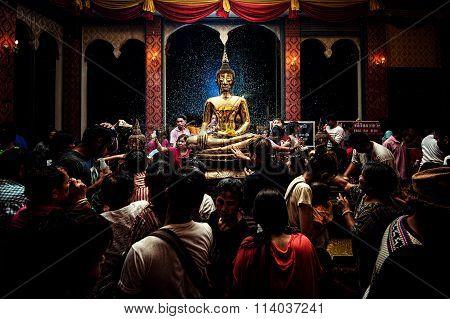 NONGKHAI THAILAND APRIL 13: Songkran Festival