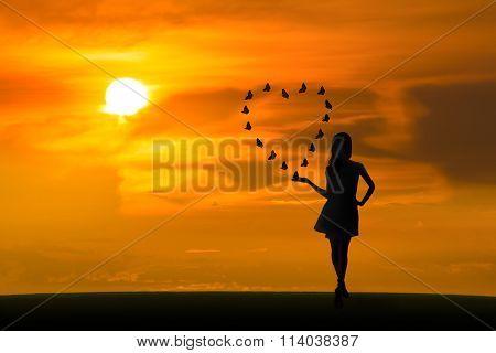 Love Butterflies At Sunset