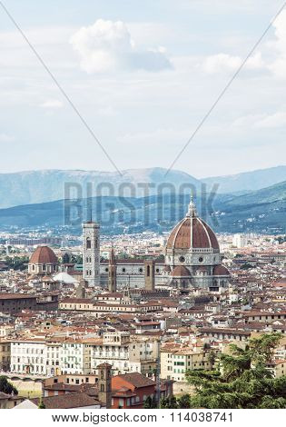 Florence Cathedral Santa Maria Del Fiore With Campanile, Italy, Cradle Of The Renaissance