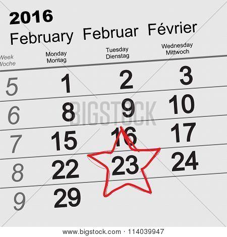 2016 February 23 russian Fatherland Day