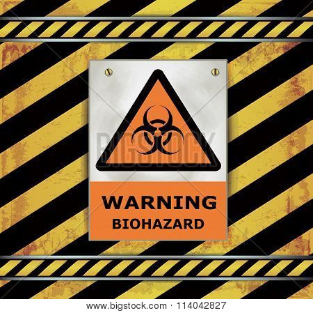 Sign caution blackboard warning biohazard vector