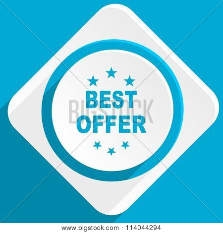 best offer blue flat design modern icon for web and mobile app