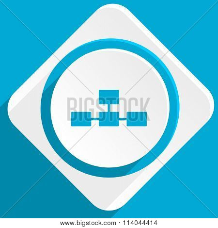 database blue flat design modern icon for web and mobile app