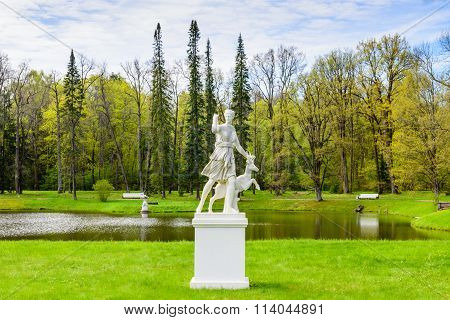 Beautiful statue in the city Park