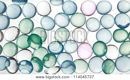 Colorful glass pearls