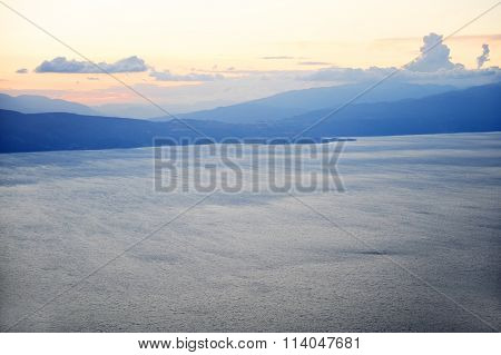 Lake Ohrid At Sunset