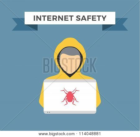 Internet security vector illustration