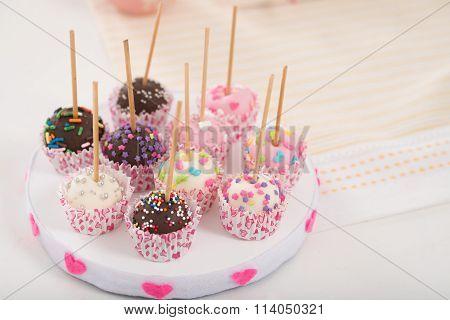 Plate of cake pops