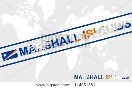 Marshall Islands Map Flag And Text Illustration