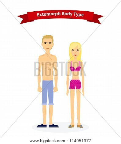 Ectomorph Body Type Woman and Man