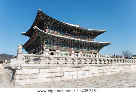 January 11, 2016 Gyeongbokgung Palace in Korea.