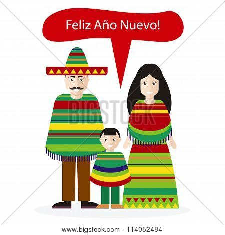 Mexicans People Congratulations Happy New Year