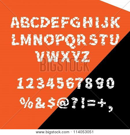 Vector alphabet ragged flat for creative use