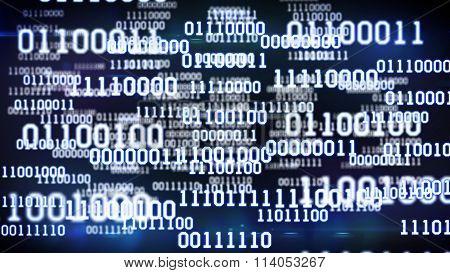 Abstract Binary Code.