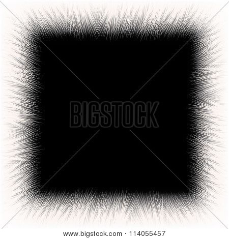 White fur frame background with empty space