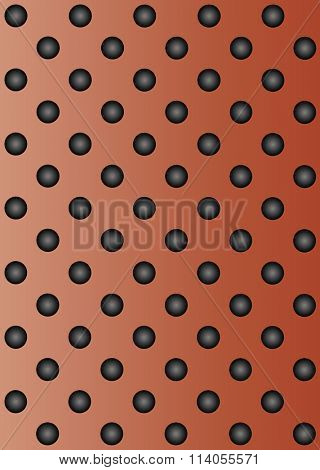 High resolution concept conceptual red metal stainless steel aluminum perforated pattern texture mesh background